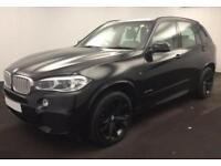 2016 BLACK BMW X5 3.0 XDRIVE30D M SPORT 7 SEAT DIESEL 4X4 CAR FINANCE FR £138 PW