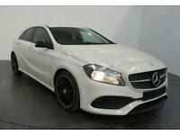 2017 WHITE MERCEDES A160 1.6 AMG LINE PETROL AUTO CAR FINANCE FR £257 PCM