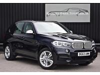 2014 Model BMW X5 M50d ( 381bhp ) M Sport * Carbon Black + Ivory + Surround View