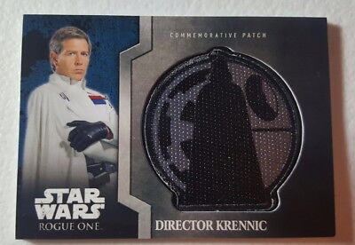 2016 Star Wars Rogue One: DIRECTOR KRENNIC DEATH STAR Patch Card 5 of 13.