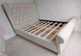 IVORY SLEIGH BED