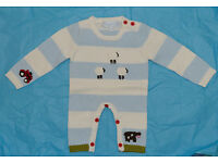 Knitted Baby Grow Boys 0-6 months Powell Craft