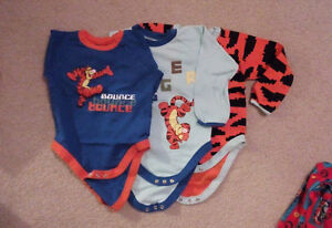 Winnie the Pooh & Tigger Diaper Shirts - Washed but never worn!