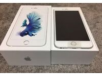 iPhone 6S Plus silver 16GB unlock any network. New with apple warranty.