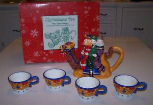 Beautiful Dept 56 Christmas Tea, We Three Kings 6-Piece Tea Set