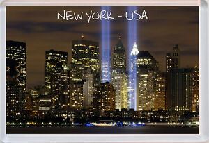 New York at Night - USA - Jumbo Fridge Magnet Souvenir Gift