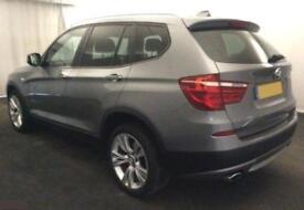 2014 GREY BMW X3 2.0 XDRIVE20D SE DIESEL AUTO ESTATE CAR FINANCE FR £67 PW
