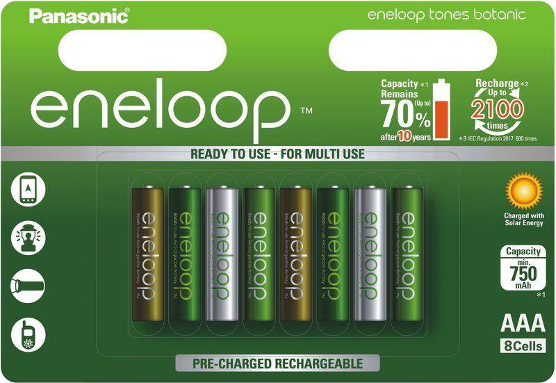 Panasonic Eneloop 8 Pack AAA 800mAh BK-4MCCA8BA Ni-MH Rechar