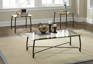 ASHLEY BURMESQUE COFFEE AND END TABLES