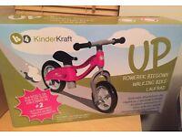Brand New - Kinder Kraft walking/balance bike in Pink