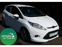 £110.05 PER MONTH WHITE 2010 FORD FIESTA 1.6 ZETEC S 3 DOOR SPORT MANUAL PETROL