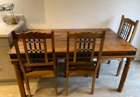 Table - Jalisheesham Thakat Dining Table & 6 chairs (low back)