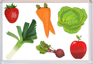 Fruit and Veg (Vegetables) - Jumbo Fridge Magnet - Fun Novelty Gift Present