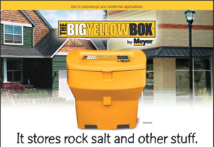 It stores rock salt and other stuff