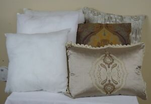 Three Feather Pillows and Three Pillow Forms