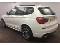 2016 WHITE BMW X3 3.0 XDRIVE30D M SPORT DIESEL AUTO ESTATE CAR FINANCE FR £104PW