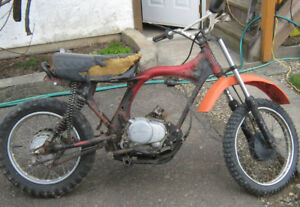 Honda Motorcycle Xr80 .