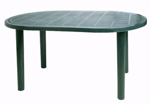 1-year old Outdoor/Indoor Oval Garden Table+4 chairs set,Green