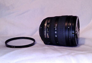 NIKON Nikkor 18-70mm 3.5-4.5 ED Lens and filter lens