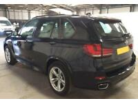 2016 BLACK BMW X5 3.0 XDRIVE30D M SPORT 7 SEAT DIESEL 4X4 CAR FINANCE FR £134 PW