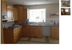 Oak Kitchen Cabinets with Corian counter (Pending)