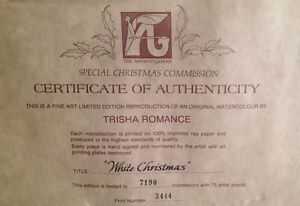 White Christmas Print by Trish Romance-reduced Kitchener / Waterloo Kitchener Area image 4