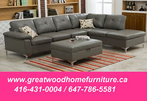 MODERN STYLE SECTIONAL WITH FREE OTTOMAN...$699 ONLY