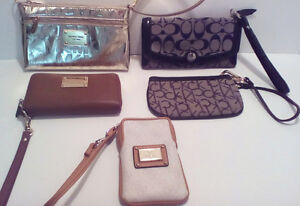 MK, Guess, Coach, CK...Wallets and Wristlet/phone holders.