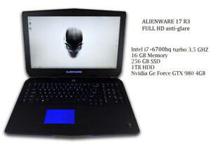 ALIENWARE  17 inch 15 inch 13 inch  ** SEE MY LIST OF CAMING **