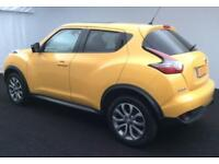 2015 YELLOW NISSAN JUKE 1.6 DIG-T TEKNA PETROL HATCHBACK CAR FINANCE FR £46 PW