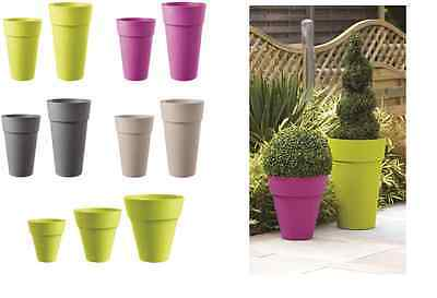 Stewart Plastic Pot Modena Planter Plant Patio Tub Various Sizes & Colours