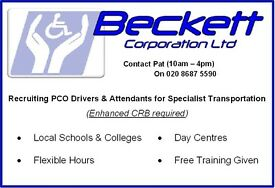 Part Time PCO Drivers required in Wandsworth, Lambeth, Merton, Sutton, Croydon and Richmond areas.