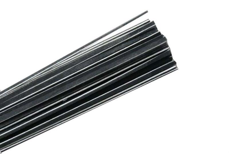 100pcs wood violin purfling black white black wood strips 2.5mm*1.3mm*970mm