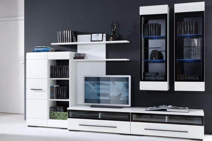 White Gloss MODERN Living Room Furniture Set