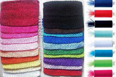 Diy Tulle Tutu (Tulle Spool Fabric Crochet tutu top flowers Supplies for tutu dress DIY)