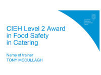 CIEH FOOD SAFETY LEVEL 2 TRAINER