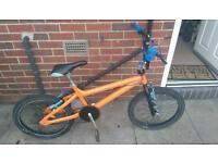 BMX self custom made bright orange bike