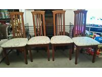 BEAUTIFUL SET OF 4 SHABBY CHIC DINING CHAIRS