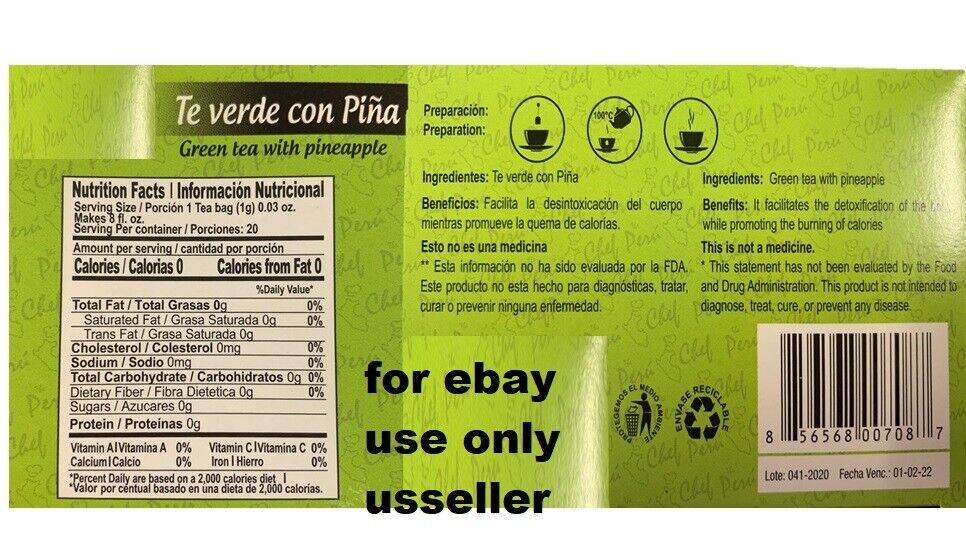 TEA INSTANT - All Natural Detox & Cleanse FLAT STOMACH METABOLISM BURN FAT BLEND 1