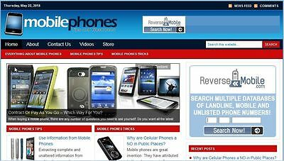 Mobile Phones Niche Affiliate Website Smart Phone Free Installation Hosting