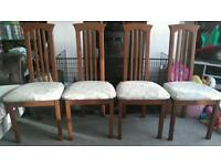 SET OF 4 BEAUTIFUL SHABBY CHIC STYLE DINING CHAIRS