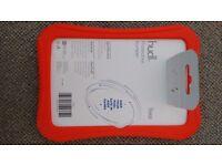 Selection of Tesco Hudl accessories - case, screen protector, bumper, box