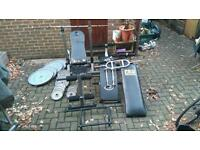 Gym 2x25 2x20 160kg total bench bars etc