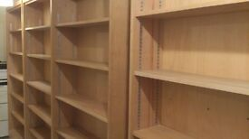 Library Bookcases - Height 6 foot 5 by 3 foot wide each - I have four of them -