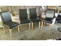 4 X Modern Type Dining Chairs