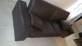 West London Acton W3, 3seat leather sofa bed in new condition.
