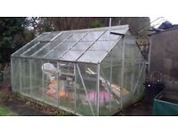 Greenhouse 12ft by 8ft approximately
