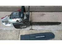 spare&Johnson petrol chain saw ! Just puling rope start to slip and could not start it