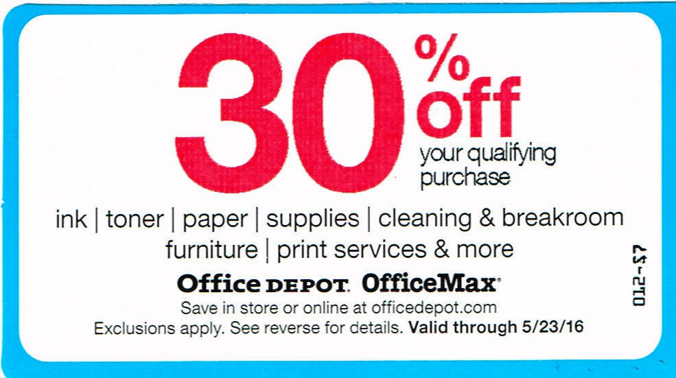 Office Depot Coupons For Sale Ebay