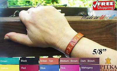 Leather Name Bracelets - Custom Bracelets for Women - Leather Wristband -small (Customes For Women)